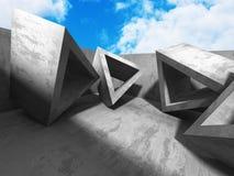 Concrete architectuurachtergrond De abstracte bouw Royalty-vrije Stock Fotografie