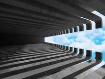 Concrete architectuurachtergrond De abstracte bouw Stock Afbeeldingen