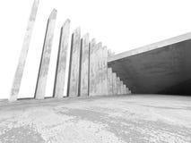 Concrete architectuurachtergrond De abstracte bouw Stock Fotografie