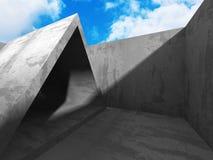 Concrete architectuurachtergrond De abstracte moderne Bouw Royalty-vrije Stock Fotografie