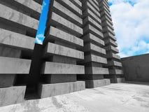 Concrete architectuurachtergrond De abstracte moderne Bouw Stock Foto