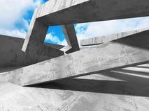 Concrete architectuurachtergrond De abstracte moderne Bouw Royalty-vrije Stock Afbeeldingen