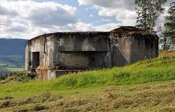 Concrete army bunker stock photo