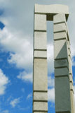 Concrete art. Large contemporary concrete outdoor art installation Stock Photography
