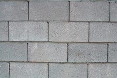 Concrete Bakstenen muur Stock Foto's