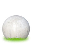 Concrete ball. With grass and copy space Stock Photography