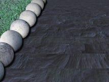 Concrete balls 5 Stock Image