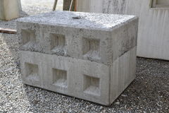 Concrete bar. Production in the palnt Stock Photo