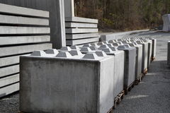 Concrete bar. Production in the palnt Royalty Free Stock Photography