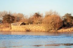 Concrete barge Stock Images