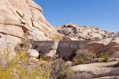 Concrete Barker Dam in Joshua Tree NP CA USA Stock Images