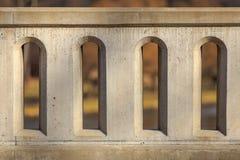 Concrete barrière Stock Afbeeldingen