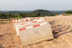 Concrete barrière Stock Foto's