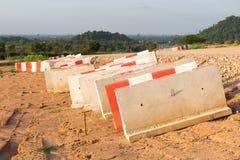 Concrete barrière Royalty-vrije Stock Fotografie