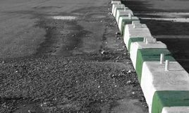 Concrete barricades royalty free stock images