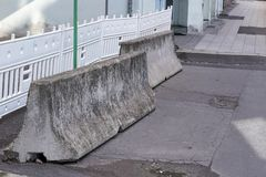 Concrete barriers for counterterrorism Royalty Free Stock Images