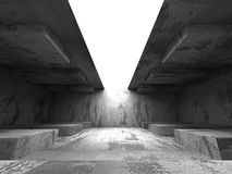 Concrete basement empty room with light. Architecture grunge bac. Kground. 3d render illustration Royalty Free Stock Photography