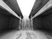 Concrete basement empty room with light. Architecture industrial. Background. 3d render illustration Stock Photo