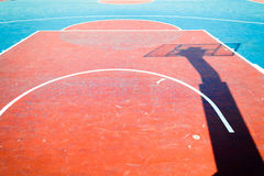 Concrete basketball court is empty Royalty Free Stock Photos