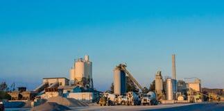 Concrete Batch Plant Stock Photo
