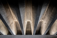 Concrete beams under bridge Royalty Free Stock Photography