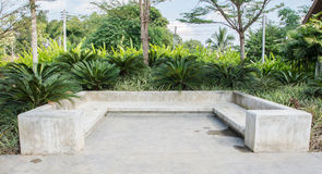 Concrete Garden Bench Stock Images Image 15270764