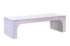 Concrete bench. Isolated on white background with clipping path Royalty Free Stock Images