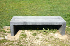 Concrete Bench Royalty Free Stock Photography