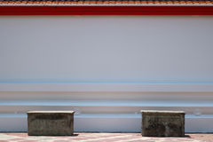 Concrete Benches and roof tile. Detail of Concrete Benches and roof tile Royalty Free Stock Photos