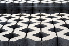 Concrete bestrating Royalty-vrije Stock Fotografie
