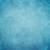 Concrete blauwe grungeachtergrond Stock Afbeeldingen