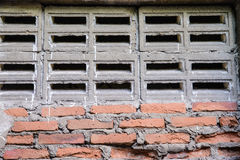 Concrete and blick block wall Royalty Free Stock Photography