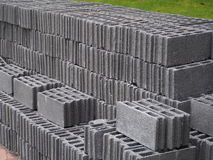 Concrete block. For construction of house walls, office buildings royalty free stock photos