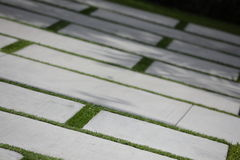 Concrete block driveway Royalty Free Stock Photos