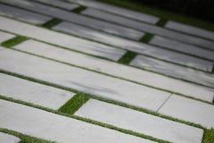 Concrete block driveway Royalty Free Stock Photos