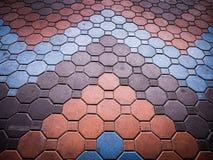 Concrete block floor Stock Image