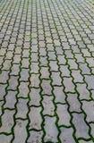 Concrete block floor. Perspective of concrete block floor stock photos