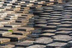 Concrete block, level different and mini waterfall in center. Art concrete block, level different and mini waterfall in center Stock Photography