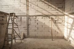Concrete block for a new building on a construction site Royalty Free Stock Images