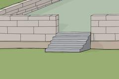 Concrete Block Patio Background Stock Photos