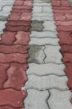 Concrete block pavement Royalty Free Stock Photo