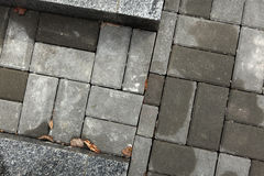 Concrete block pavement. The background texture. Royalty Free Stock Photography
