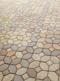 Concrete block pavement Royalty Free Stock Photos