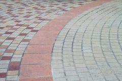 Concrete block pavement walkway Stock Images