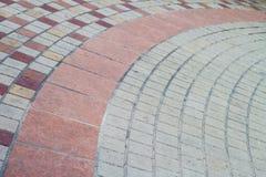 Concrete block pavement walkway Stock Image