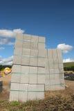 Concrete Block Stacks Stock Photography