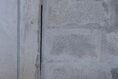 Concrete block texture crack background. Royalty Free Stock Photography