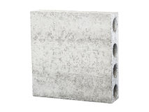 Concrete block used as matterial in construction structure Royalty Free Stock Photo