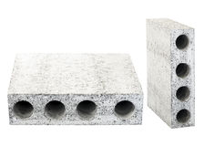 Concrete block used as matterial in construction structure Royalty Free Stock Image