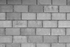 Concrete block wall background black and white stock image
